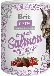 Лакомство Brit Care Superfruits Salmon steril для кошек